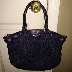 Navy nylon coach purse